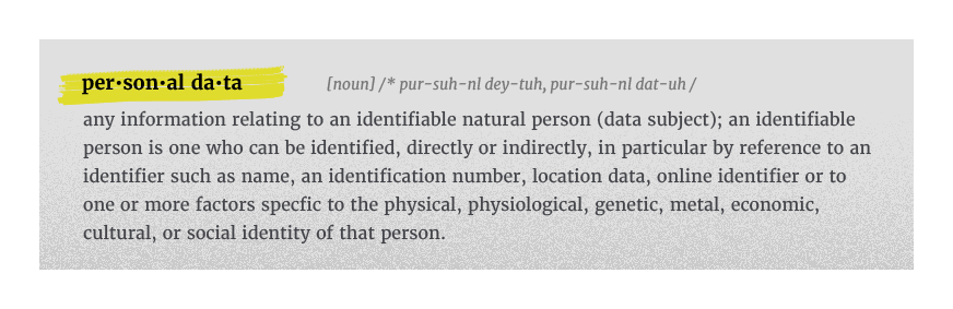 personal data definition