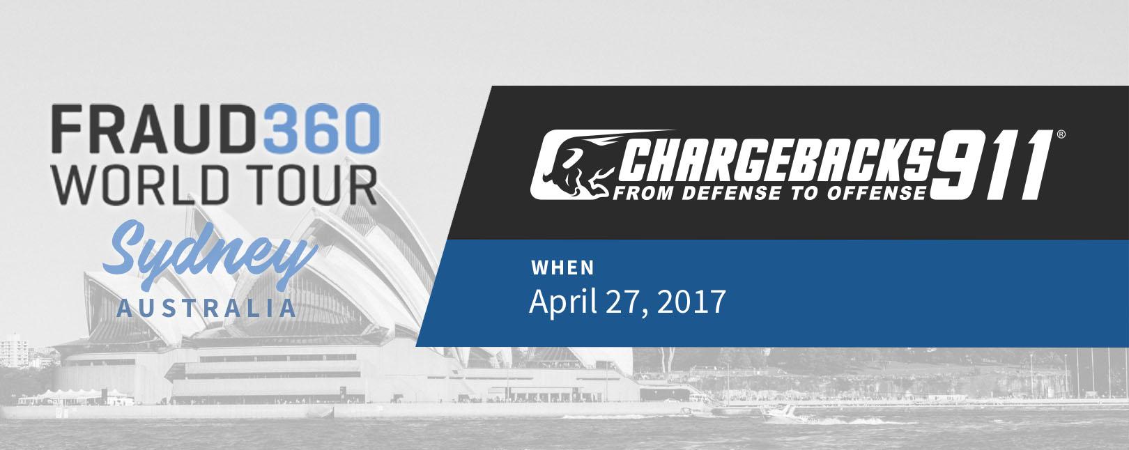 Chargebacks911 at Fraud360 World Tour - Sydney