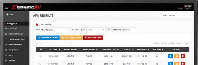 Affiliate Fraud Shield Portal