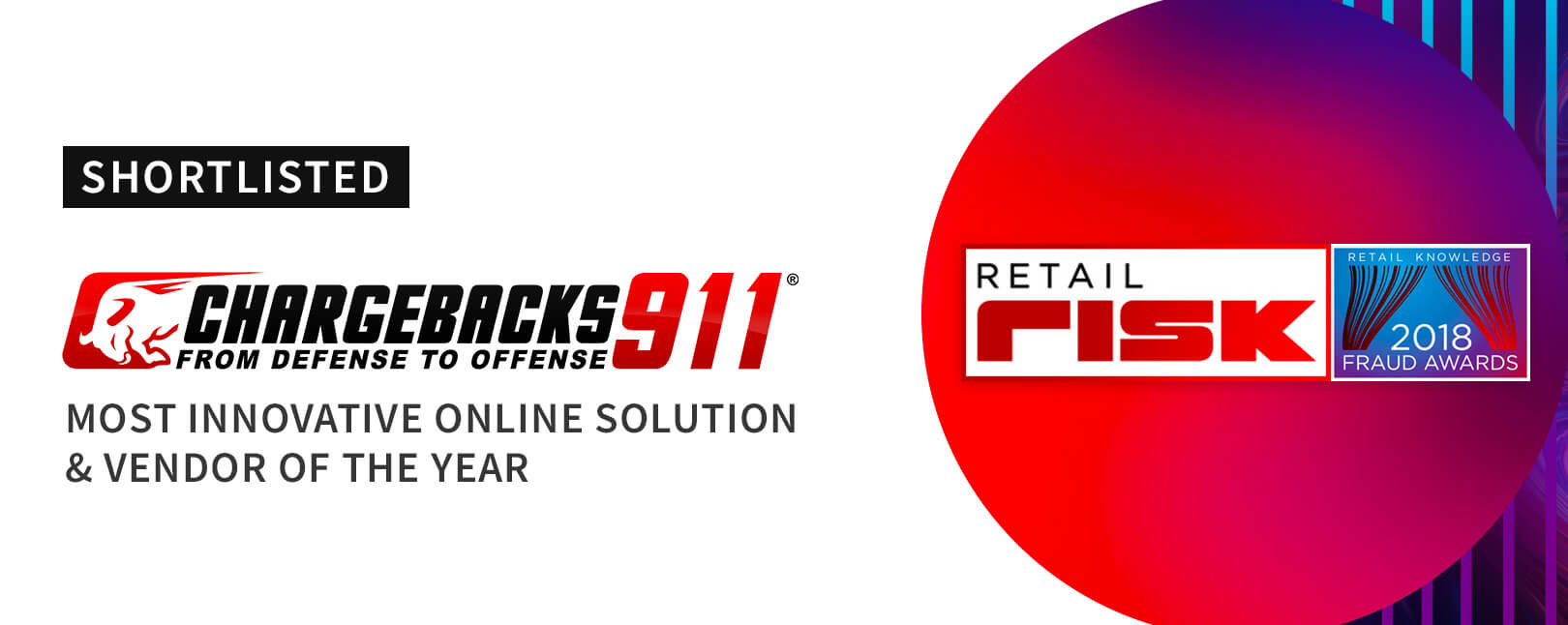 """Chargebacks911® Selected for Fraud Awards' """"Vendor of the Year"""""""