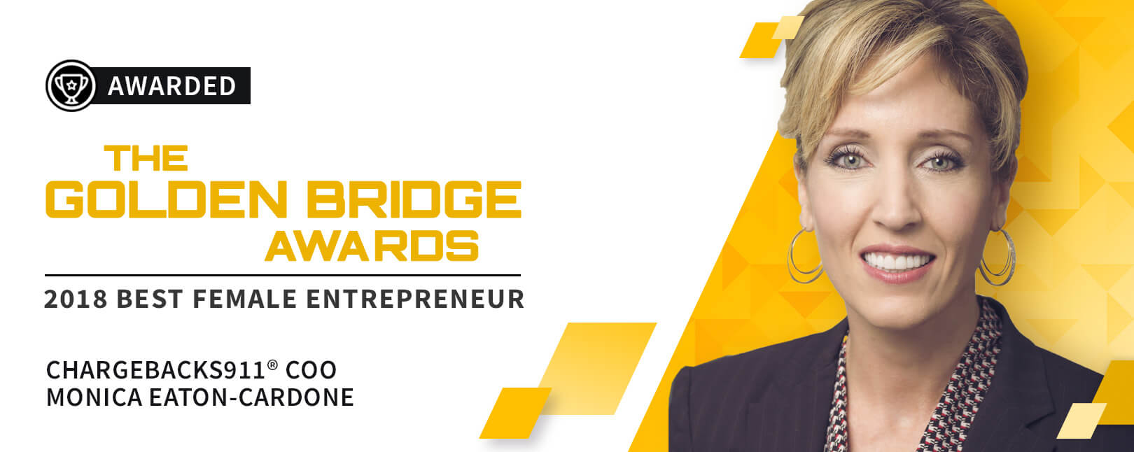 Best Female Entrepreneur - Golden Bridge Awards 2018