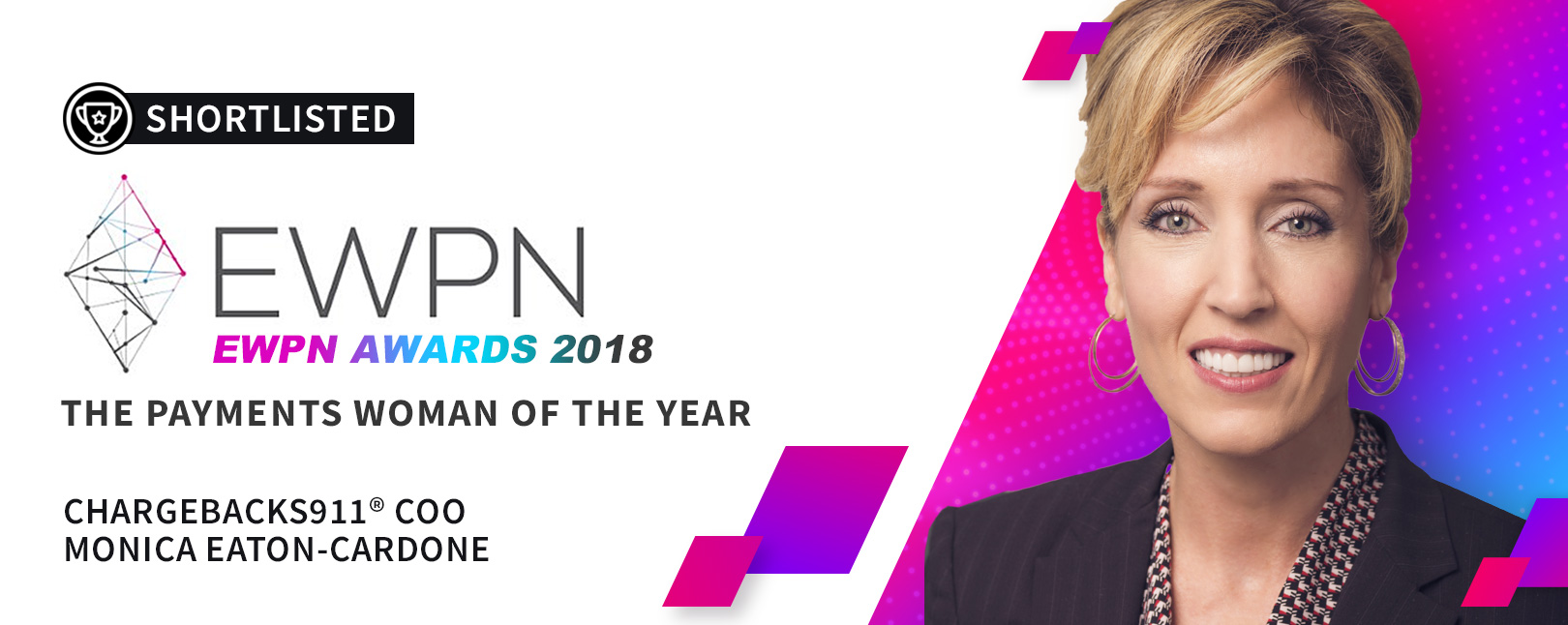 "Monica Eaton-Cardone Shortlisted for ""Payments Woman of the Year"""
