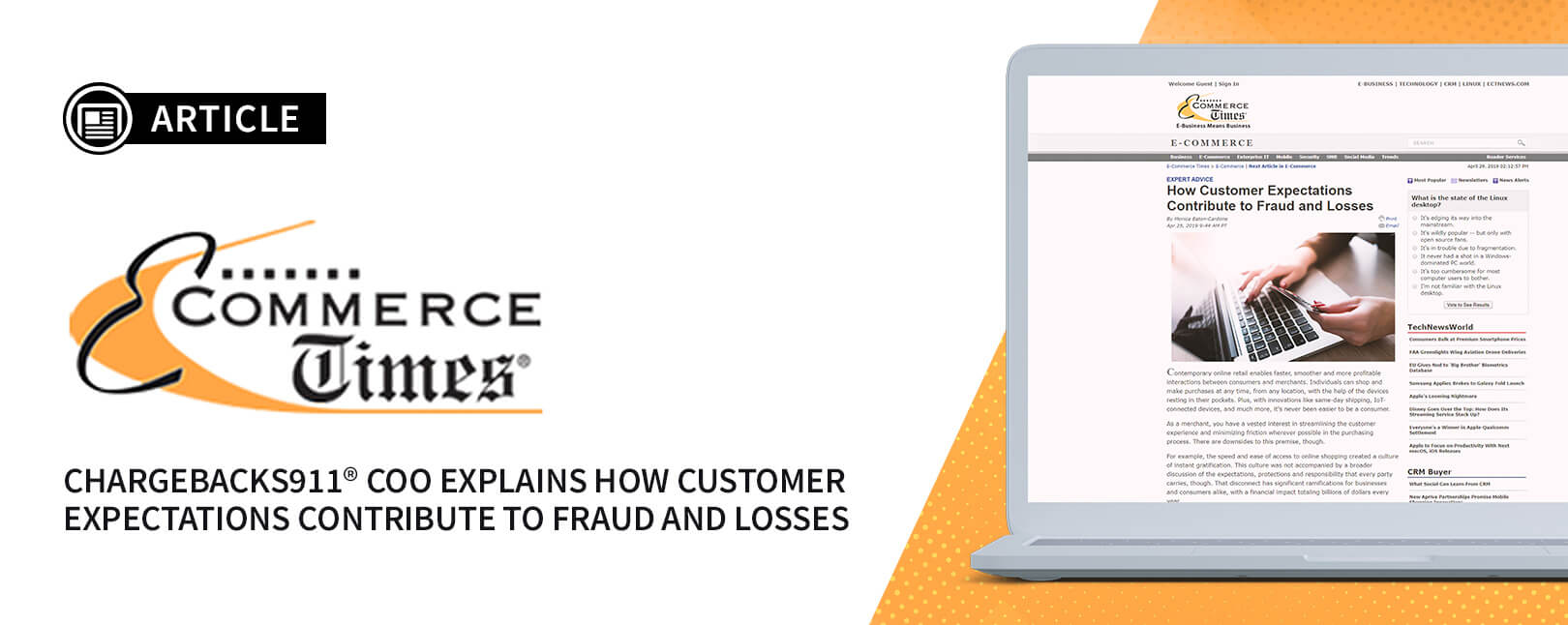 Press - E-Commerce Times - How Customer Expectations Contribute to Fraud and Losses-blog