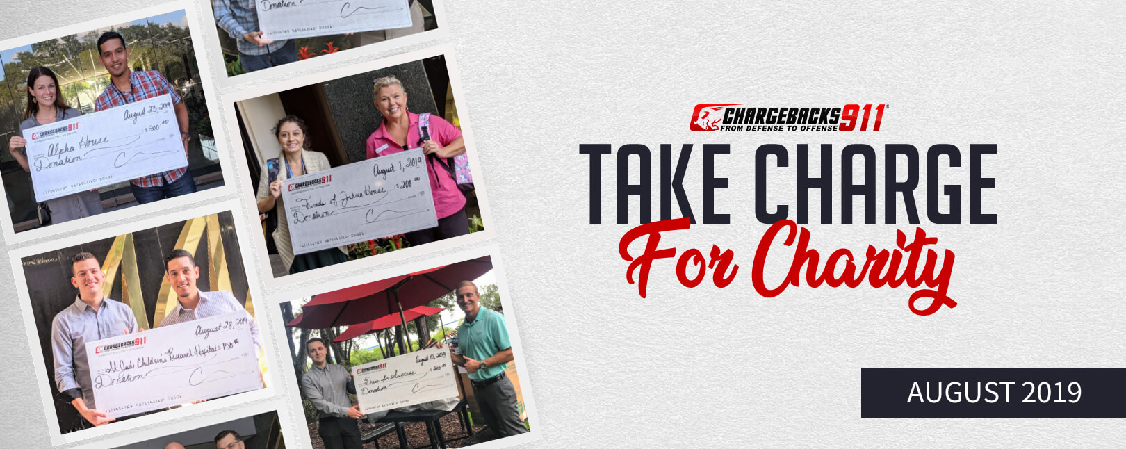 Take Charge for Charity – August 2019