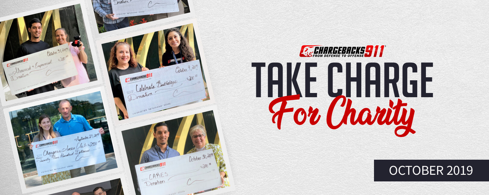 Take Charge for Charity - October 2019