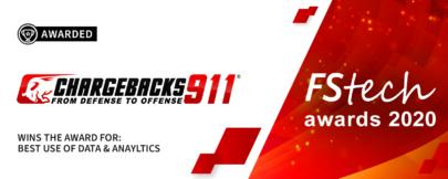 Chargebacks911® Wins Big at FStech Awards 2020