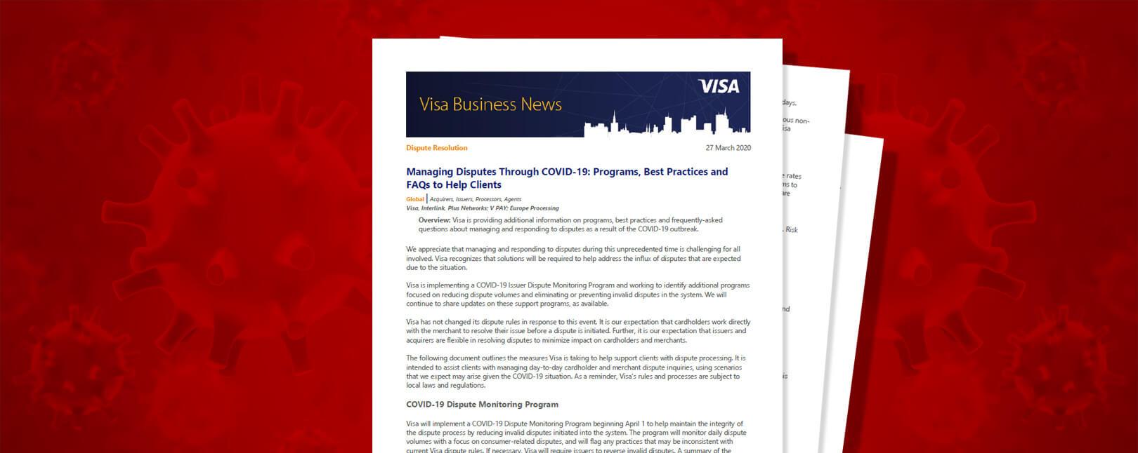 Visa Coronavirus Rules