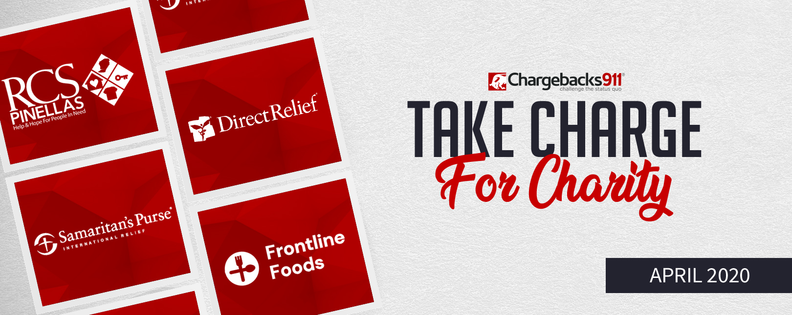 Take Charge for Charity – April 2020