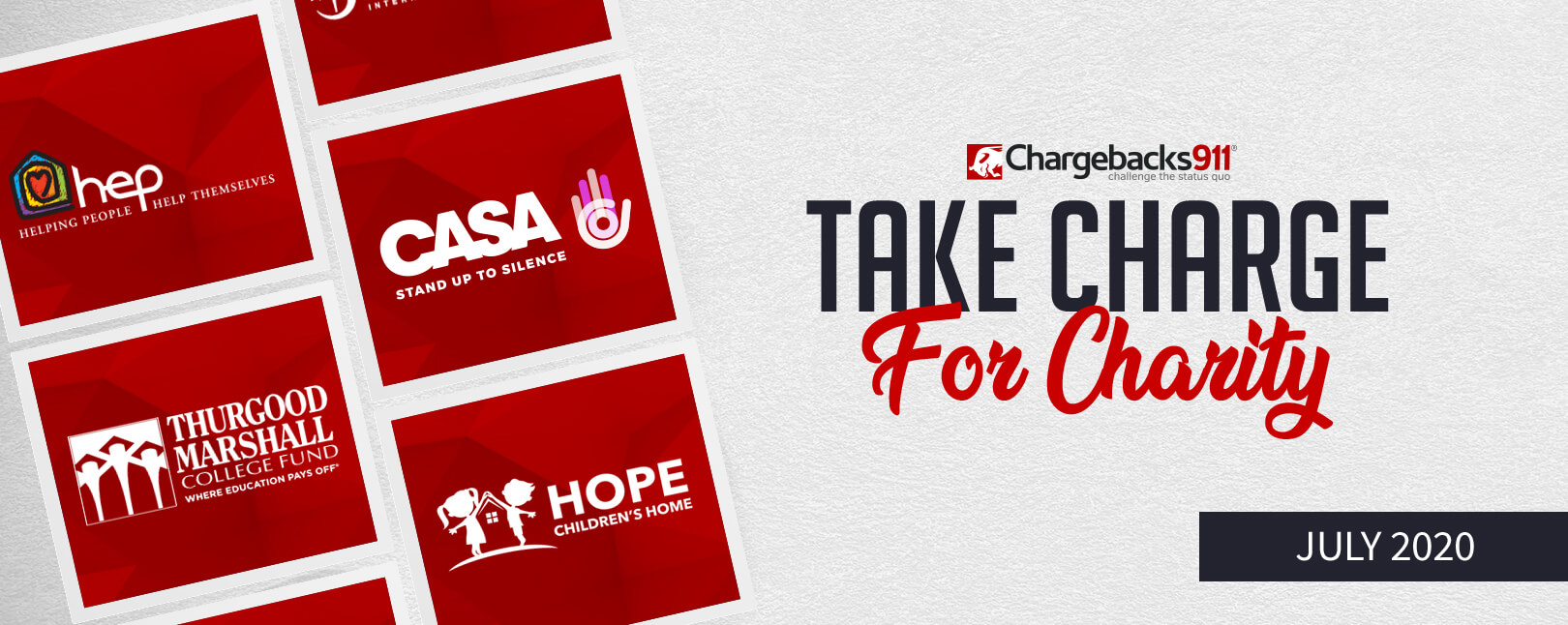 Take Charge for Charity – July 2020