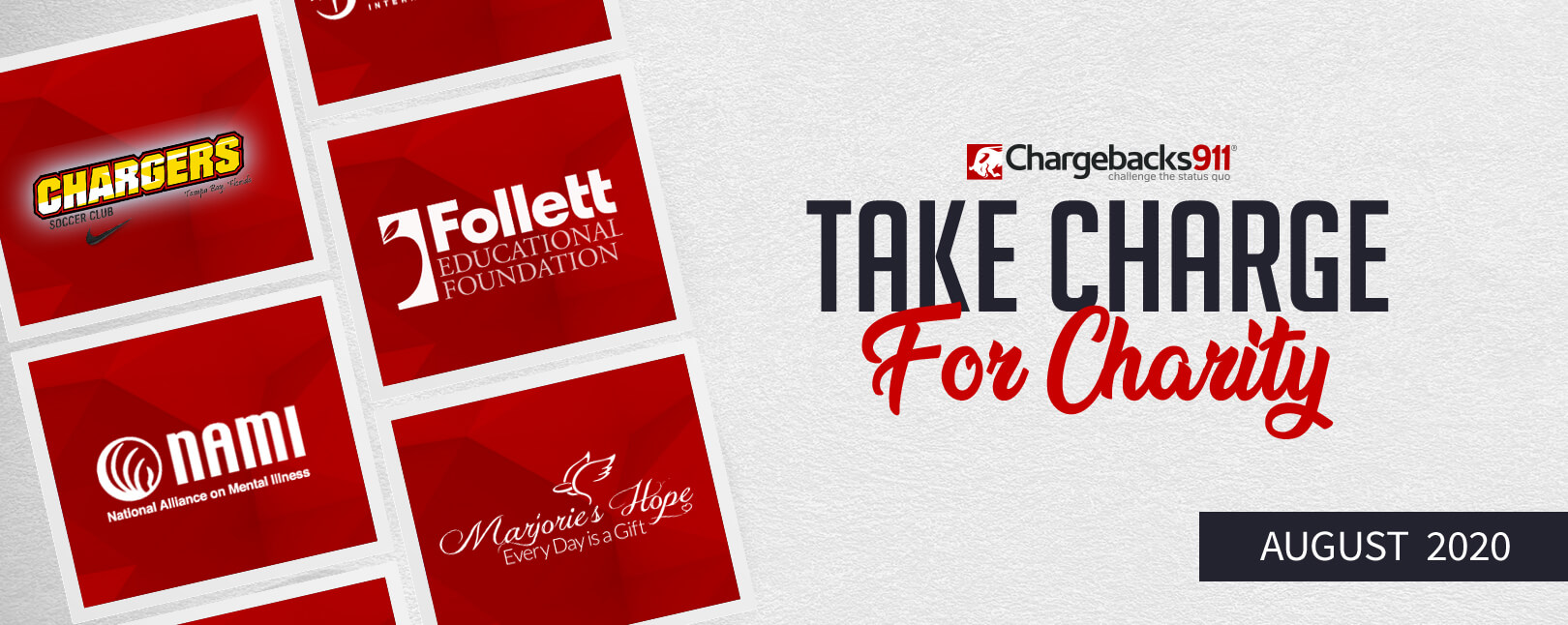 Take Charge for Charity – August 2020