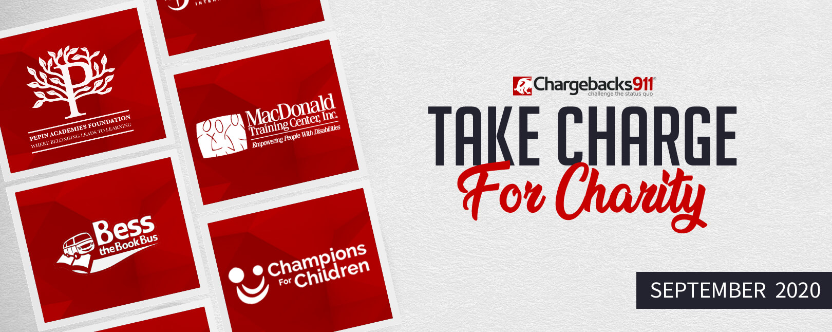 Take Charge for Charity – September 2020