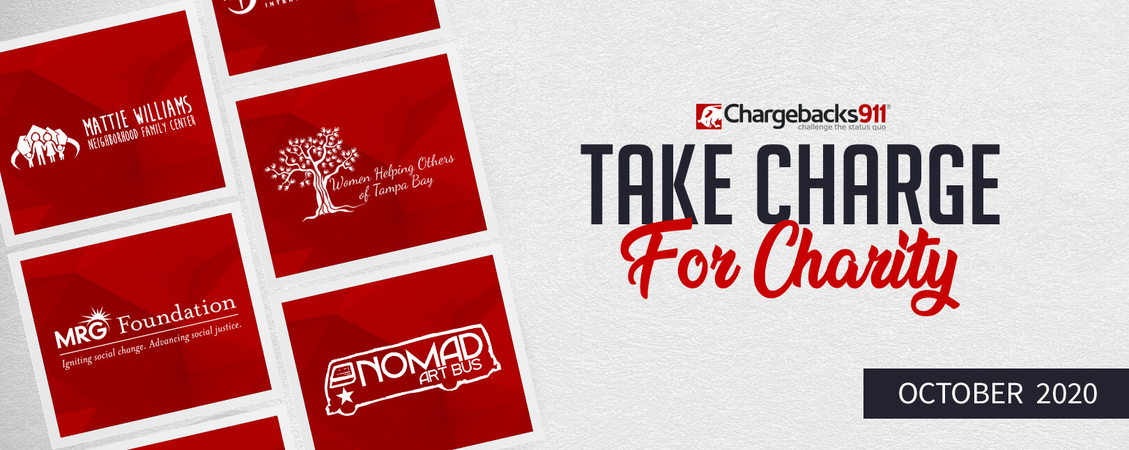 Take Charge for Charity – October 2020