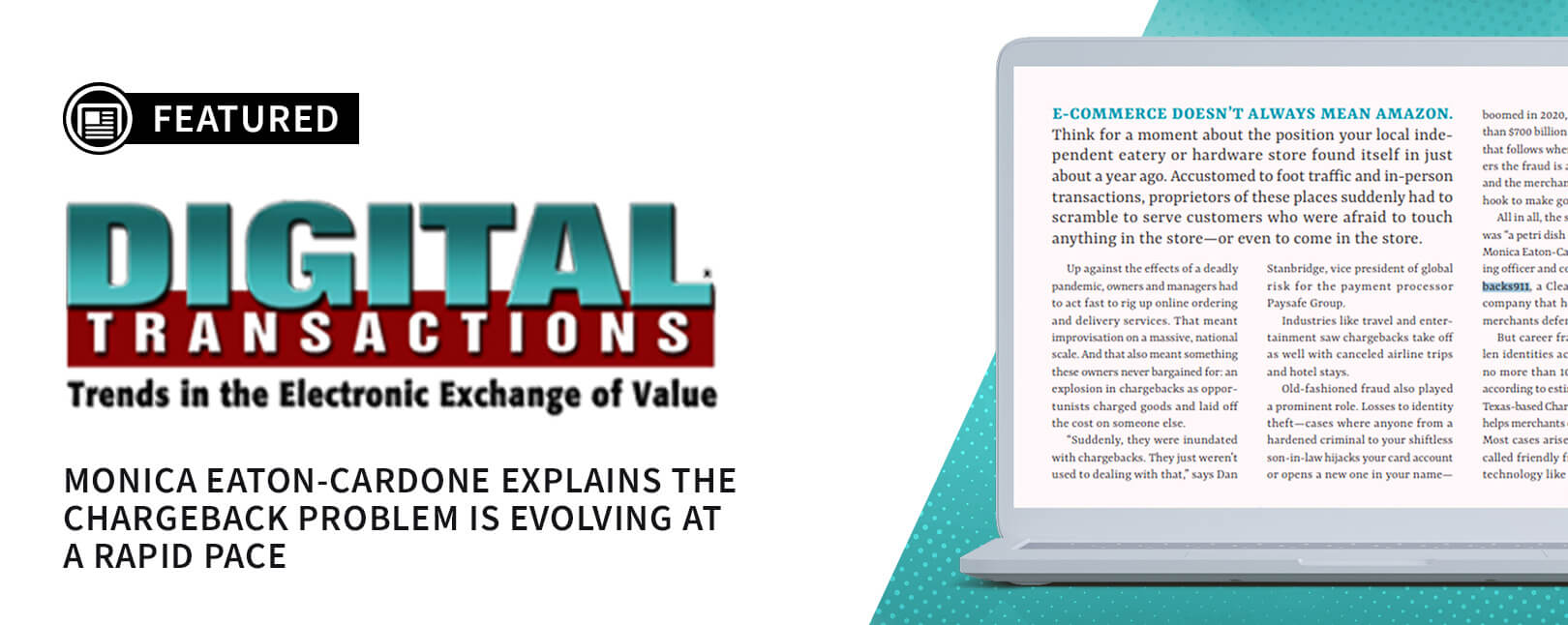 Chargebacks911® COO Interviewed by Digital Transactions