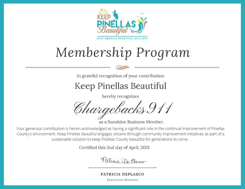 Chargebacks911® is Helping to Keep Pinellas Beautiful in 2021!
