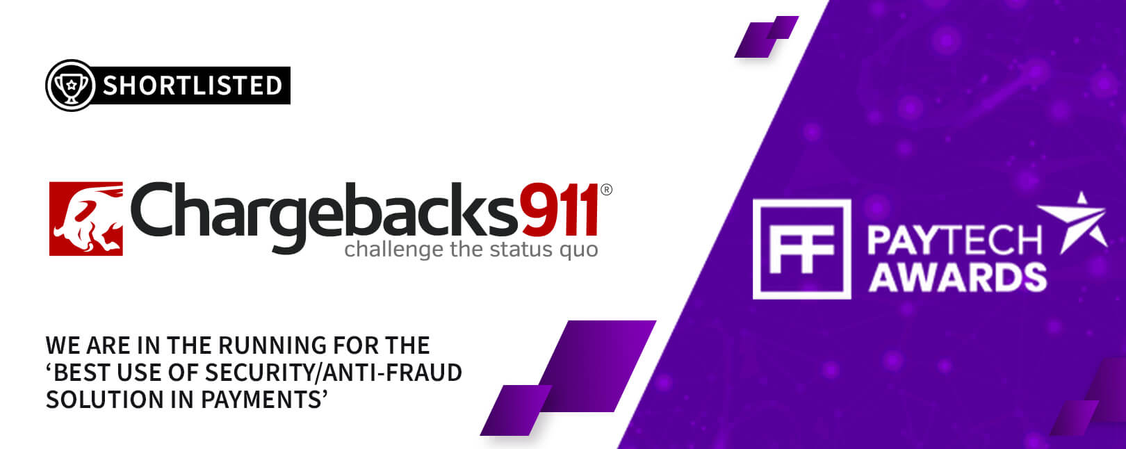 Chargebacks911® Tapped for Two Titles at PayTech Awards 2021