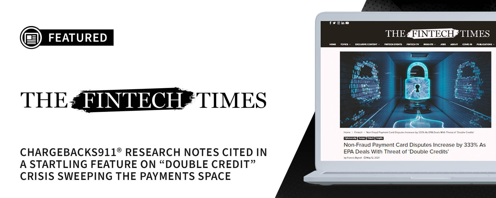Chargebacks911® Research Featured in Fintech Times