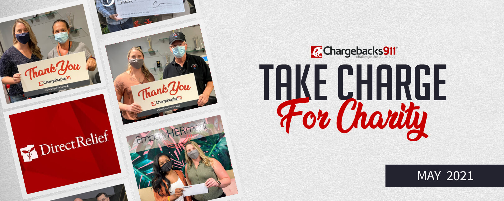 Take Charge for Charity – May 2021