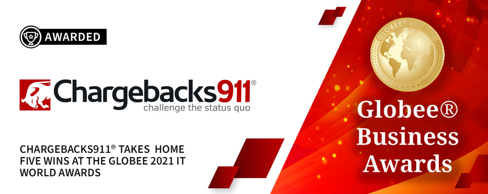 Chargebacks911® Win 5 New GLOBEE Award Titles for 2021!