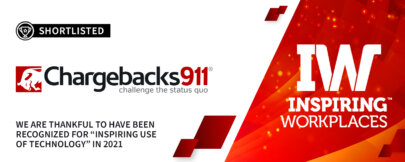 """Chargebacks911® Recognized for """"Inspiring Use of Technology"""" in 2021!"""