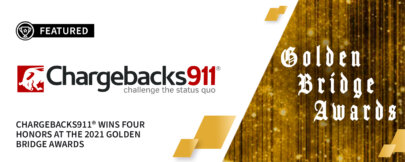 Chargebacks911® Wins 4 Honors at the 2021 Golden Bridge Awards